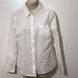B2G1 Boden 8R White Cotton Shirt Front Pocket XC